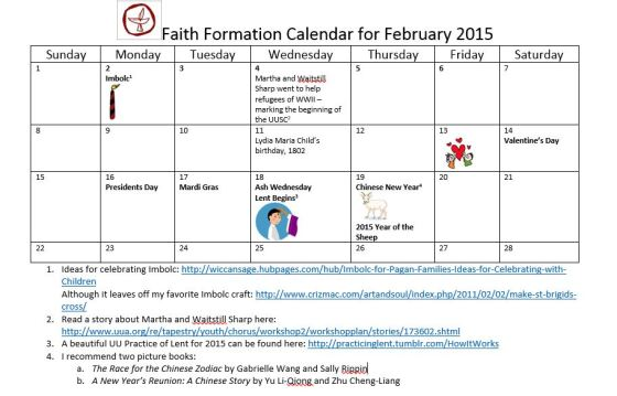 february faith formation calendar