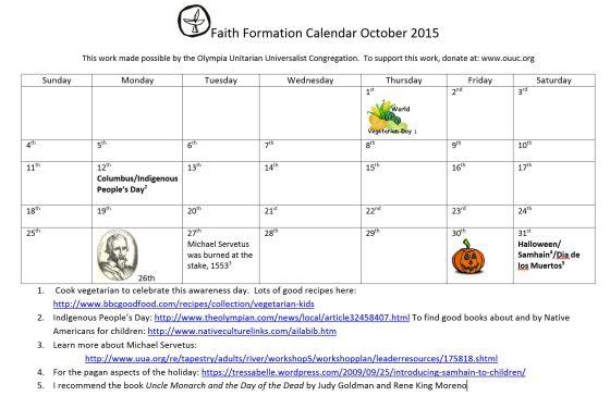 october calendar 2015