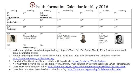 may 2016 faith formation calendar